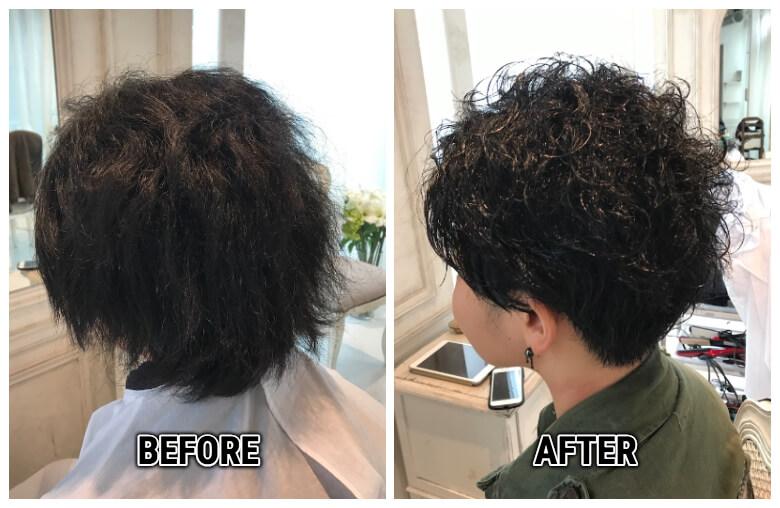 強いくせ毛を活かして、メンズライクで可愛いショートヘアに