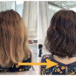 痛んでバサバサ、汚く見えるくせ毛を上質なウェーブヘアに。【実例 #26】