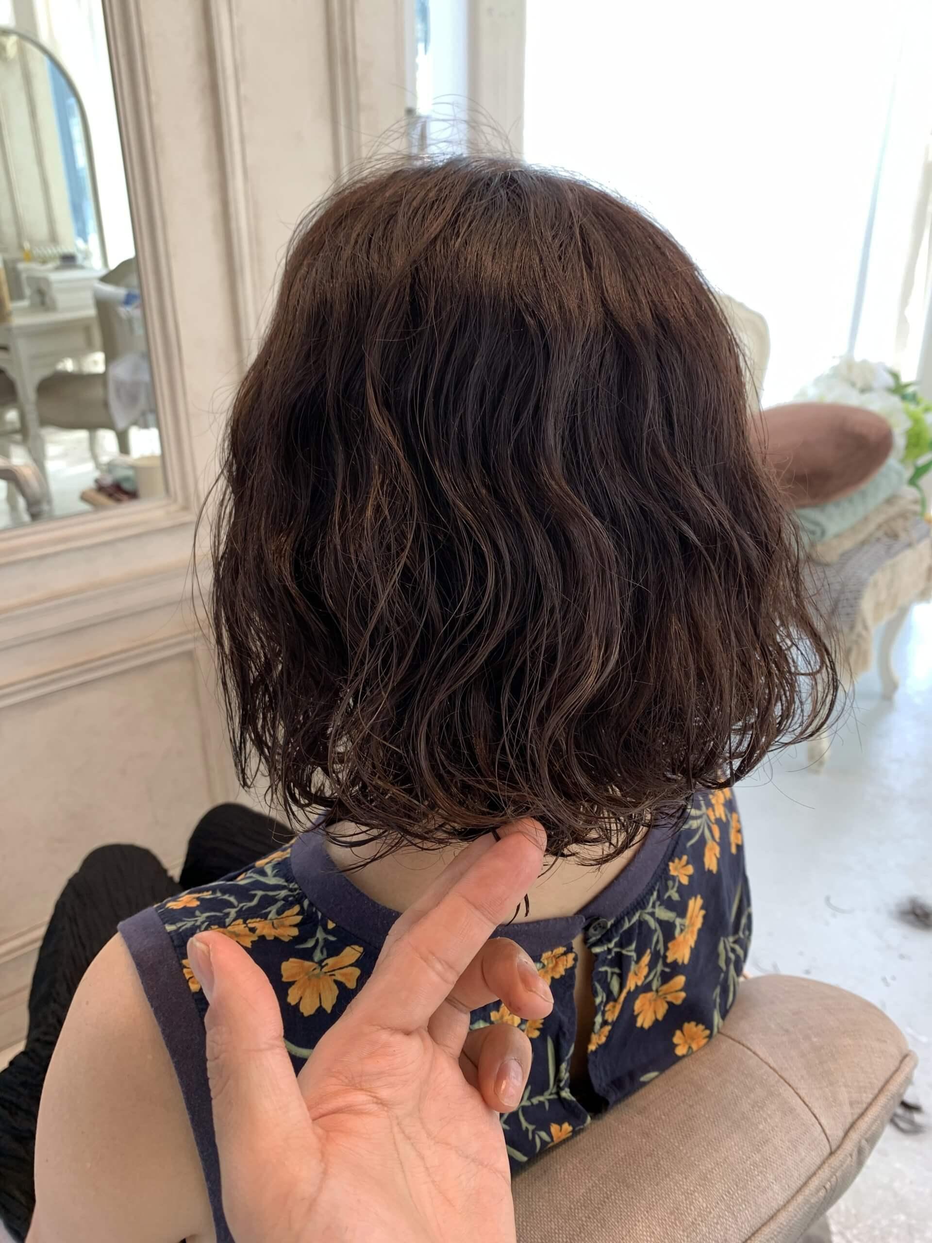 くせ毛を活かすカット,AFTER